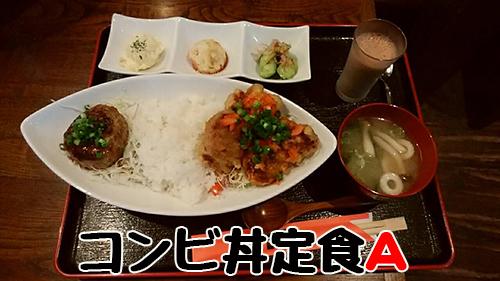 さかえ家コンビ丼定食A 900円